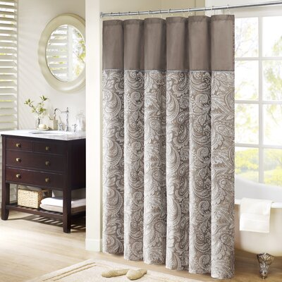 Pokanoket Jacquard Shower Curtain Size: 96 H x 72 W