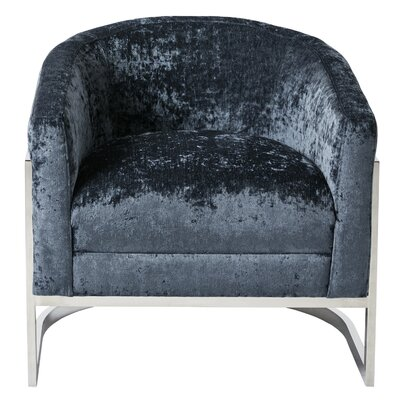 Kenton Barrel Chair Upholstery: Blue/Chrome