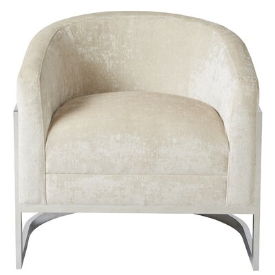 Kenton Armchair Upholstery: Cream/Chrome