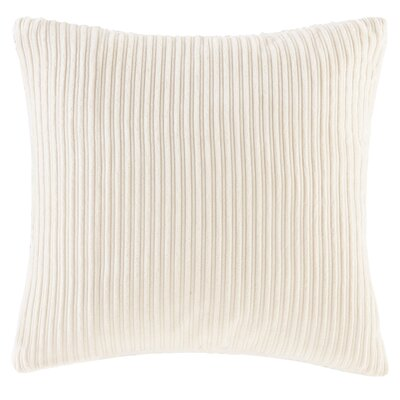 Carley Polyester Throw Pillow Color: Ivory