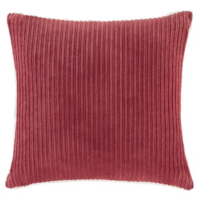 Carley Polyester Throw Pillow Color: Red
