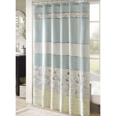 Willshire Shower Curtain Color: Yellow, Size: 72 H x 72 W