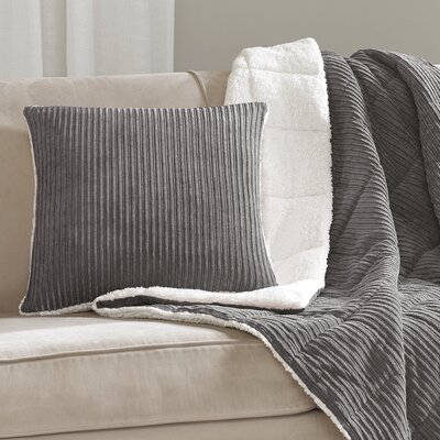 Carley Polyester Throw Pillow Color: Gray