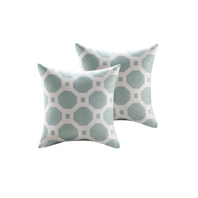 Demko Jacquard Decorative Throw Pillow Color: Aqua