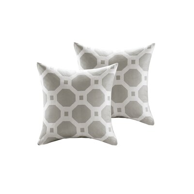 Demko Jacquard Decorative Throw Pillow Color: Light Gray