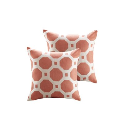 Demko Jacquard Decorative Throw Pillow Color: Coral