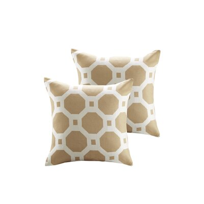Demko Jacquard Decorative Throw Pillow Color: Taupe