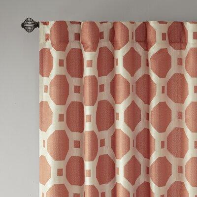 Parmelee Jacquard Geometric Semi-Sheer Grommet Single Curtain Panel