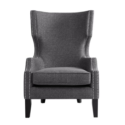 Welwyn Wingback Chair Upholstery: Grey