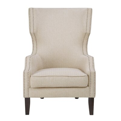 Welwyn Wingback Chair Upholstery: Cream/Morrocco