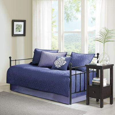 Emy 6 Piece Reversible Daybed Set Color: Navy