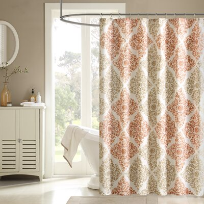 Padang Sidempuan Printed Shower Curtain Size: 72 W  x 96 L