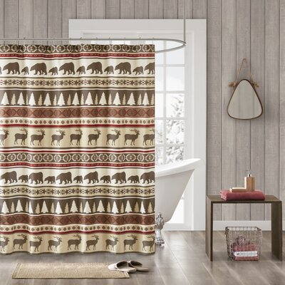 South Lake Tahoe Herringbone Shower Curtain