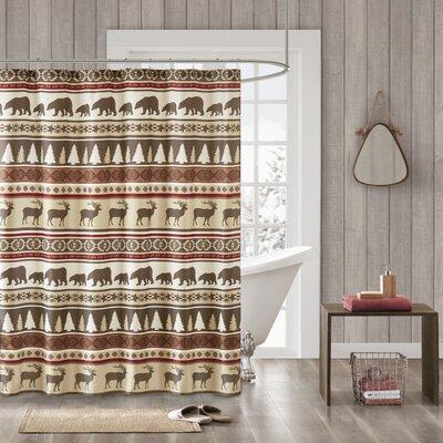 South Lake Tahoe Herringbone Shower Curtain