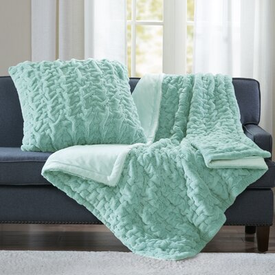 Renee Throw Color: Aqua