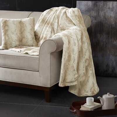 Atkins Oversized Bed Throw Size: Full/Queen, Color: Sand