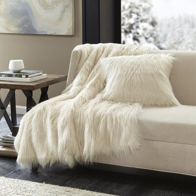 Leif Throw Pillow Color: Ivory