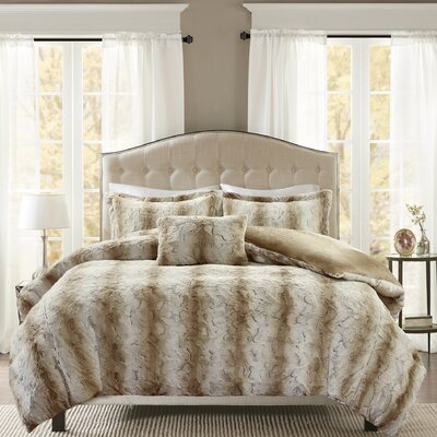 Atkins 4 Piece Duvet Set Size: Full/Queen, Color: Sand