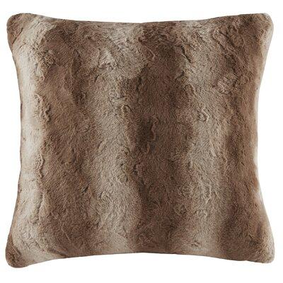Atkins Faux Fur Euro Pillow Color: Tan