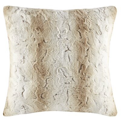 Atkins Faux Fur Euro Pillow Color: Sand
