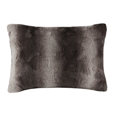 Atkins Faux Fur Throw Pillow Color: Chocolate