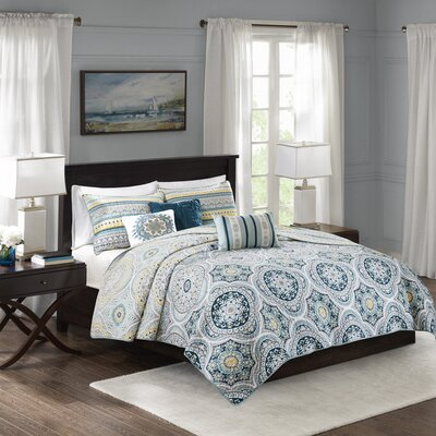 Thatcher Cotton 6 Piece Reversible Coverlet Set Size: Full/Queen