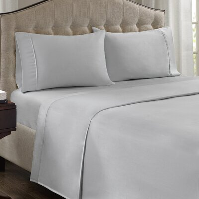Fowler 1500 Thread Count 100% Cotton Blend Sheet Set Size: Queen, Color: Gray