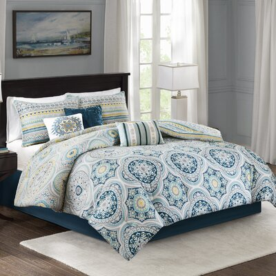 Thatcher Cotton 7 Piece Reversible Comforter Set Size: Cal King