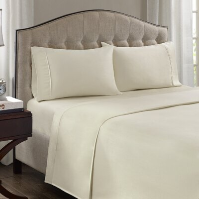 Fowler 1500 Thread Count 100% Cotton Blend Sheet Set Size: Queen, Color: Ivory