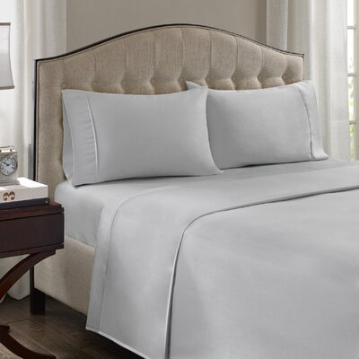 Fortville 1500 Thread Count Cotton Blend Pillowcase Size: King, Color: Gray
