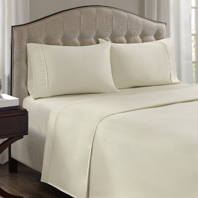 Fortville 1500 Thread Count Cotton Blend Pillowcase Size: King, Color: Ivory