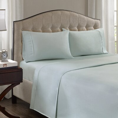 Fortville 1500 Thread Count Cotton Blend Pillowcase Size: King, Color: Seafoam