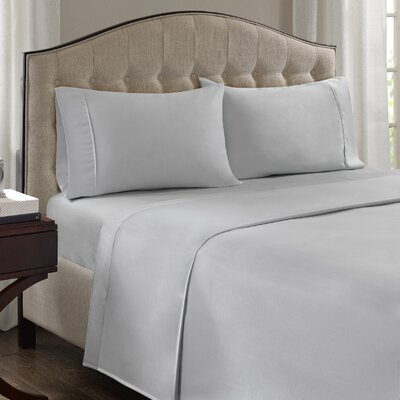 Fortville 1500 Thread Count Cotton Blend Pillowcase Size: King, Color: White
