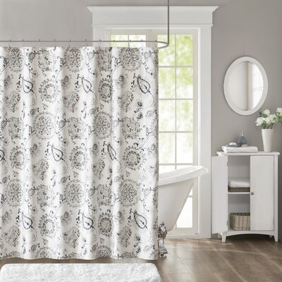 Madisonburg Sateen Printed Cotton Shower Curtain