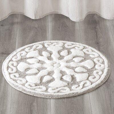 Cisco Medallion Geometric Cotton Tufted Bath Rug