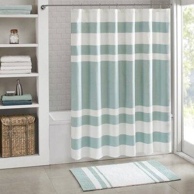 Merrinda Shower Curtain Size: 54 x 78, Color: Aqua