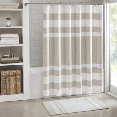 Merrinda Shower Curtain Size: 54 x 78, Color: Taupe