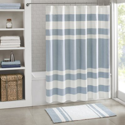 Merrinda Shower Curtain Size: 72 x 96, Color: Blue