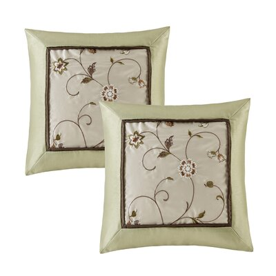 Brierwood Embroidered Throw Pillow