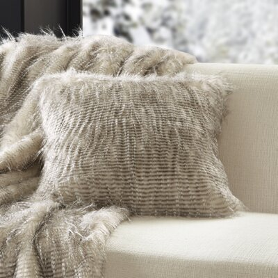 Dover Faux Fur Throw Color: Natural
