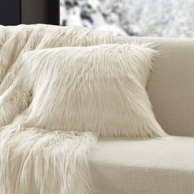 Dover Faux Fur Throw Color: Ivory