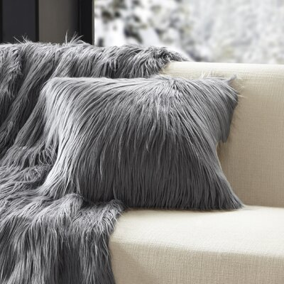 Dover Faux Fur Throw Color: Grey