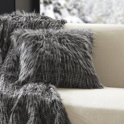 Dover Faux Fur Throw Color: Black