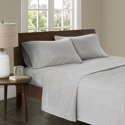 Crane 3M Microcell Printed Sheet Set Size: Queen, Color: Gray