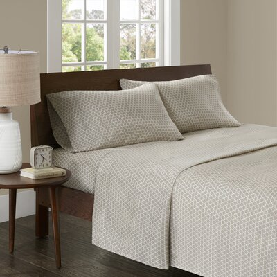 Crane 3M Microcell Printed Sheet Set Size: California King, Color: Tan