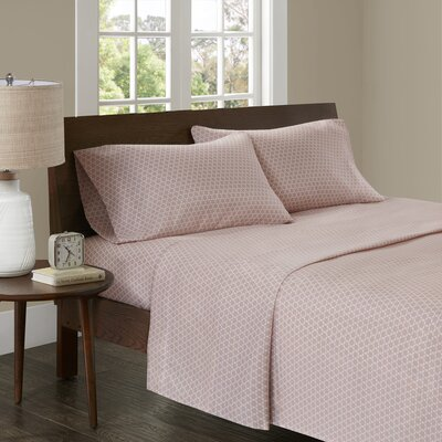 Crane 3M Microcell Printed Sheet Set Size: Twin XL, Color: Blush