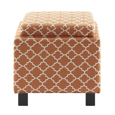 Hernandes Storage Ottoman Upholstery : Orange