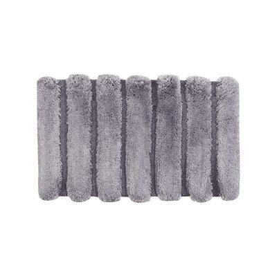 Whelan Bath Rug Size: Large, Color: Gray