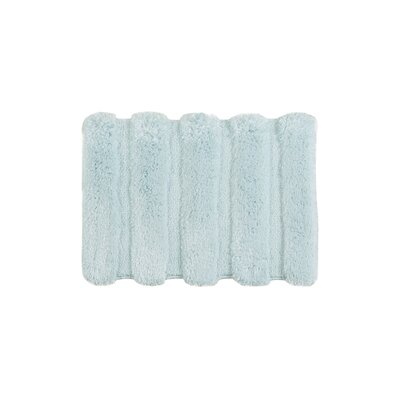 Queensway Bath Rug Size: Large, Color: Seafoam