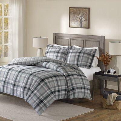 Smithtown 100% Cotton 3 Piece Reversible Comforter Set Size: King